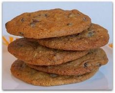 Secret Recipe Chocolate Chip Cookies   These are fabulous and don't get flat and greasy...even at high altitude.