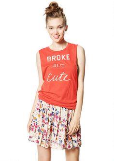 Broke But Cute Twist-Back Tank http://store.delias.com/product/broke+but+cute+twist-back+tank+315658.do?sortby=ourPicks&refType=