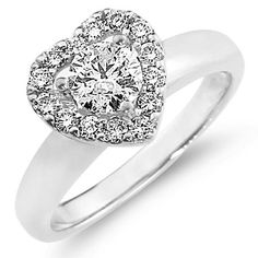 Heart Promise Rings for Her Heart Shaped Promise Rings, Cheap Promise Rings, Promise Rings For Girlfriend, Heart Shaped Diamond Ring, Promise Rings For Couples, Diamond Promise Rings, Cute Engagement Rings, Love Ring, Fine Jewelry
