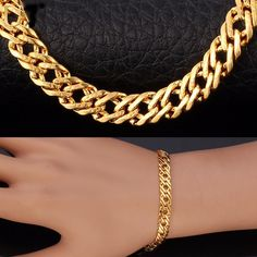 Rose Gold Plated Bracelet is part of Gold plated bracelets Rose Gold Plated or Platinum Plated Clasp Type Lobster Chain Type snake chain Bracelet Length 8 inch Package Content 1 bracelet, paper - Mens Silver Jewelry, Mens Gold Bracelets, Golden Jewelry, Gold Plated Bracelets, Gold Bangles, Fashion Bracelets, Bracelet Men, Silver Ring, Gold Chain Design