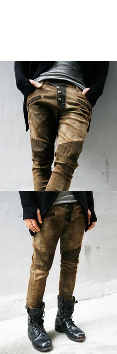 Limited Slim Fit Checkered Biker-Jeans 29 | GUYLOOK.COM