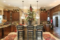 images of christmas french country kitchens - Google Search