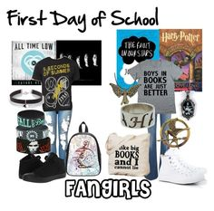 """First Day School 5"" by fangindiegirl on Polyvore"