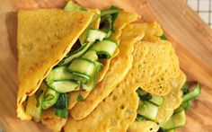 Gram pancakes with spiced courgette ribbons recipe - Telegraph