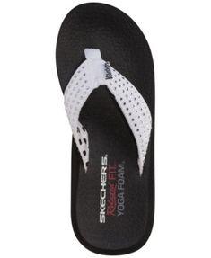 21f790a8f Skechers Women s Asana Flip-Flop Thong Sandals from Finish Line - Tan Beige