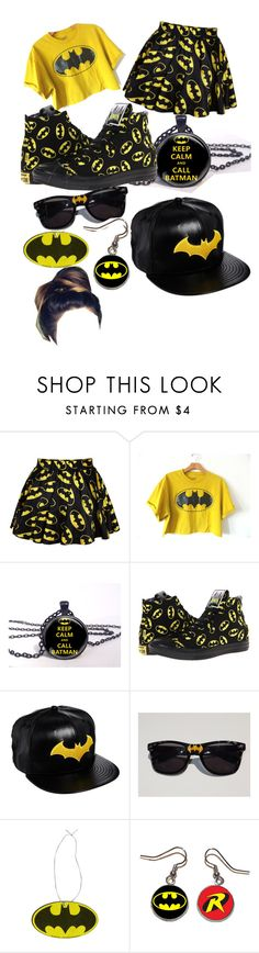 """""""Batman"""" by cupcake4queen ❤ liked on Polyvore featuring Converse and New Era"""