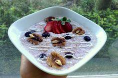 overnight oats med bær og nøtter