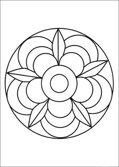 Simple Mandala Flower Coloring Pages. 30 Simple Mandala Flower Coloring Pages. Easy Flower Mandala Coloring Pages at Getdrawings Mandala Design, Mandala Art, Mandala Tigre, Mandalas Painting, Mandalas Drawing, Mandala Pattern, Mosaic Patterns, Dot Painting, Easy Mandala Drawing