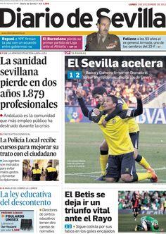 Los Titulares y Portadas de Noticias Destacadas Españolas del 2 de Diciembre de 2013 del Diario De Sevilla ¿Que le pareció esta Portada de este Diario Español?