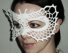 Butterfly Lace Masquerade Mask Crochet Pattern PDF file. $1.95, via Etsy.