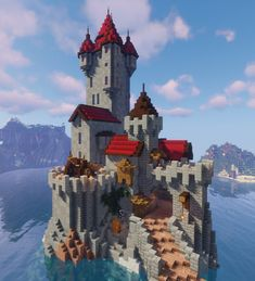 Minecraft Small Castle, Minecraft Kingdom, Cute Minecraft Houses, Minecraft Medieval, Minecraft Room, Minecraft Plans, Minecraft House Designs, Amazing Minecraft, Minecraft Games
