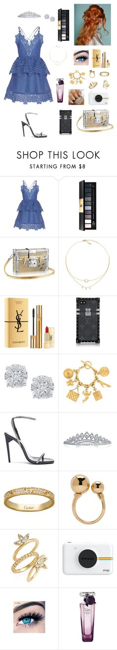 """Homecoming"" by tamara-wolfram ❤ liked on Polyvore featuring self-portrait, Yves Saint Laurent, Effy Jewelry, Chanel, Bling Jewelry, Chloé, Luv Aj, Polaroid, MINX and Lancôme"