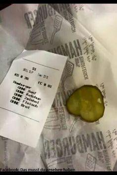 1 Hamburger bitte! Aber ohne....