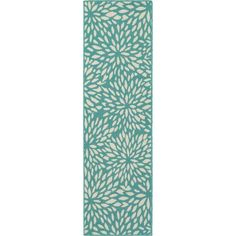 Home Decorators Collection Maldives Aqua 2 ft. x 8 ft. Indoor/Outdoor Runner Rug 9525970330 - The Home Depot