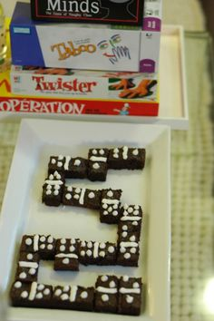 Brownie dominoes, perfect for game night
