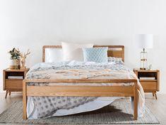 Denmark Bed Frame – Snooze Timber Bed Frames, Timber Slats, Timber Beds, Home Bedroom, Girls Bedroom, Bedroom Furniture, Bedroom Ideas, Master Bedroom, Bedrooms