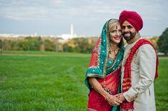 Sikh Wedding Dress, Marathi Wedding, Luxury Wedding Dress, Punjabi Wedding, Indian American Weddings, South Indian Weddings, Dc Weddings, Romantic Weddings, Bridal Pictures