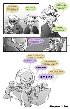 Splatoon 2 comic part 11 Splatoon 2 Art, Splatoon Comics, Pearl And Marina, Cartoon Expression, Callie And Marie, Storyboard Artist, Stay Fresh, Plant Art, Monster Art