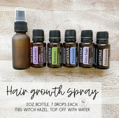 I've gotten tons of requests for this one! It's great to help thicken the hair and stimulate new hair growth. Just ask my stylist my hair… Essential Oil Spray, Essential Oils For Hair, Essential Oil Diffuser Blends, Young Living Essential Oils, Doterra Peppermint, Hair Growth Oil, Doterra Essential Oils, Perfume, Natural Hair