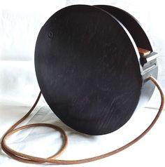 "Fendi ✿ ゚"" RARE "" Hard Wood Round Tote Box Clutch Bag Handbag | eBay"
