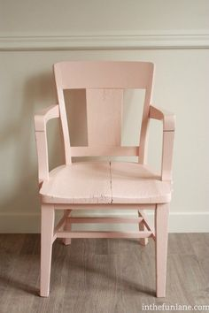 I am thinking of painting one of my black dining chairs this shade of pink. thoughts?