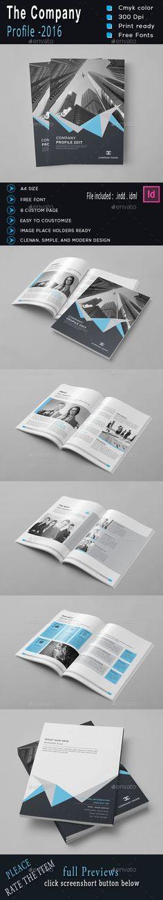 Company Profile Brochure Company profile, Brochure template and - company profile free template