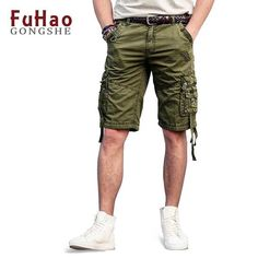 FuzWeb:Summer Men's Cargo Shorts Military Short Pants Plus Size Cotton Casual Shorts Men