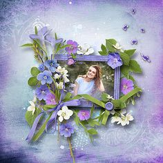 Summer blossoms bundled collection from Design by Brigit [ link ] photo Viktoria Panina use with permission, DigiShopTalk - The Hub of the Digital Scrapbooking Community Layout Design, Digital Scrapbooking, Blossoms, Layouts, Summer, Blog, Painting, Collection, Art