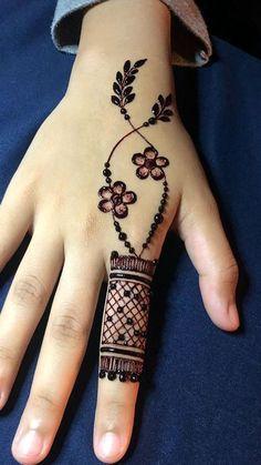 Simple Mehndi Designs Fingers, Cute Henna Designs, Modern Henna Designs, Henna Tattoo Designs Simple, Floral Henna Designs, Latest Arabic Mehndi Designs, Finger Henna Designs, Mehndi Designs For Girls, Mehndi Designs For Beginners