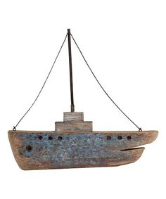 This Distressed Boat Wall Décor is perfect! Wall Decor, Boat, Drift Wood, Ceiling Lights, Wave, Minimalist, Exterior, Products, Wall Hanging Decor