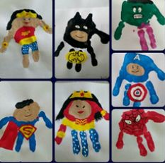 Superhero handprint kids planning to do this cute super hero art project with my baby nephews next time they visit. superhero hand art canvas family paint by marylou Baby Crafts, Crafts To Do, Arts And Crafts, Superhero Art Projects, Projects For Kids, Hero Arts, You Are My Superhero, Superhero Kids, Superhero Kindergarten