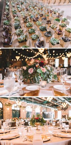 Floral and gold wedding reception decor and table centerpieces | Real Wedding Inspiration: Connie + Kent | Adam Kennedy Photography | The Wedding Shoppe