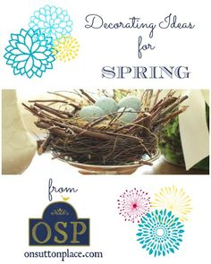 Decorating Ideas for Spring ~ easy DIY inspiration!