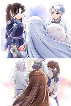 Manga Anime, Anime Nerd, Manhwa Manga, Anime Naruto, Inuyasha Funny, Inuyasha Fan Art, Inuyasha Love, Seshomaru Y Rin, Inuyasha And Sesshomaru