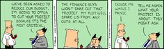 OK, panic. - The Dilbert Strip for January 27, 1995