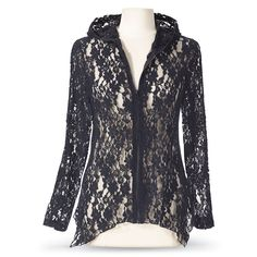 Black-Lace Zippered Jacket | Smoked Glass Goggles