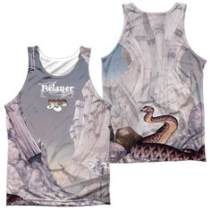 YES/RELAYERS SUB (FRONT/BACK PRINT)-ADULT 100% POLY TANK TOP-WHITE
