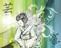 Eazywallz  - Modern Geisha Wall Mural, $109.96 (http://www.eazywallz.com/modern-geisha-wall-mural/)