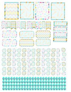 Erin Condren, Filofax, Kikki K.. April Easter Planner Stickers ! :)