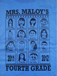 Having class tshirts made with self portraits by the students. Wear on field trips!