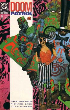 The cover to Doom Patrol #26 (1989), art by Simon Bisley