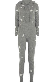 Chinti and Parker Star-intarsia cashmere hooded jumpsuit | NET-A-PORTER