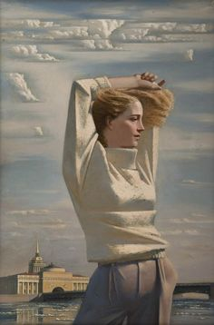 """Синица Андрей Юрьевич """"Весна в Ленинграде"""", 1987"""