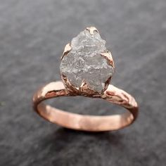 Rough Diamond, Diamond Stone, Diamond Wedding Rings, Gold Wedding, Diamond Rings, Yellow Gold Rings, Rose Gold, Wedding Promises, Minerals And Gemstones