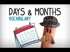 Days and months in English, learning English videos Listening English, Learning English For Kids, Learning English Online, Learning Spanish, English Study, English Words, English Lessons, Learn English, Name Of Months
