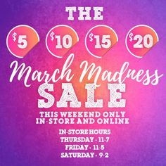 March Madness SALE at Glamour Farms!