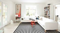 Fill a room with bold prints or add a pillow here and there for a bright pop.