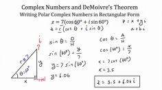 Understanding and Using DeMoivre's Theorem