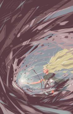 "tosquinha:  ""Galadriel throwing down Dol Guldur's walls  """