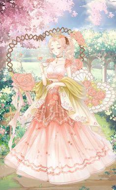 Gown Dress Design, Dress Up Diary, Royal Clan, Nikki Love, Accesorios Casual, Anime Dress, Anime Princess, Barbie World, Anime Outfits